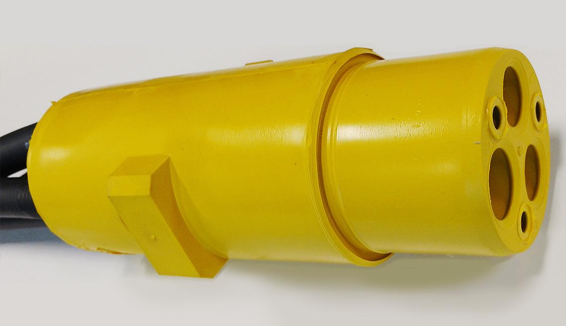 480 Volt Rail Connector Plug - Yellow