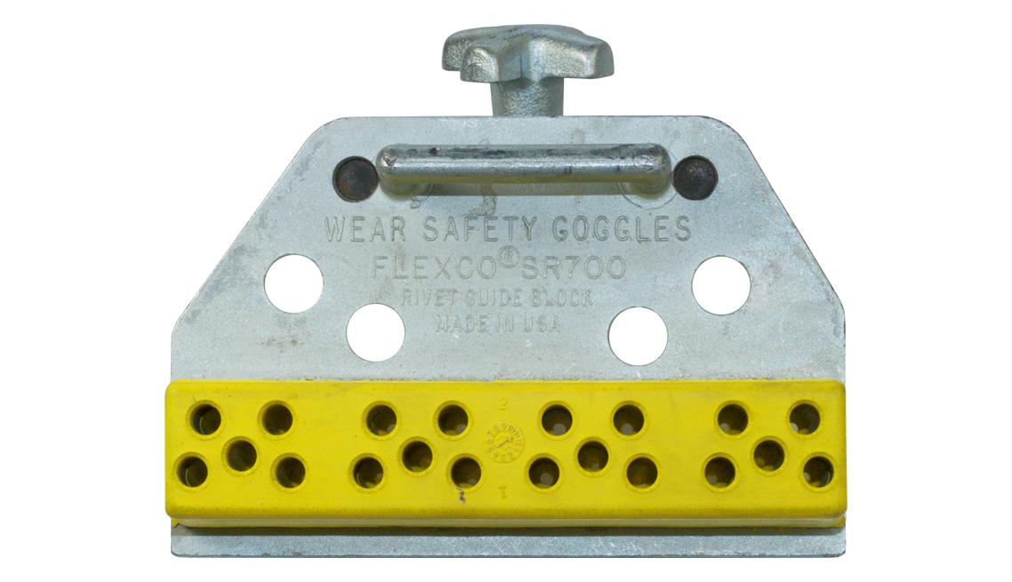 Custom Color Nitrile PVC Rivet Guide, Chemically Bonded, Insert Molding, Transfer Molded