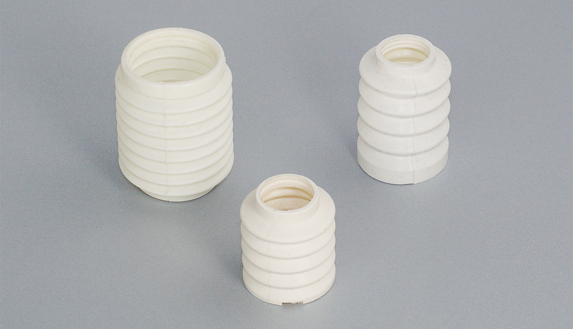High Performance Silicone Bellows, Custom Color, Transfer Molded