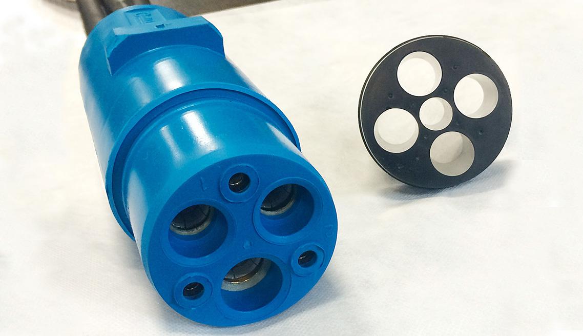 480 Volt Rail Connector Plug - Blue