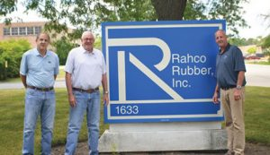 The leadership team at Rahco Rubber includes (from left) Jim Anton, VP of Operations; Steve Anton, CEO and President; and Jack Anton, VP Sales & Marketing.
