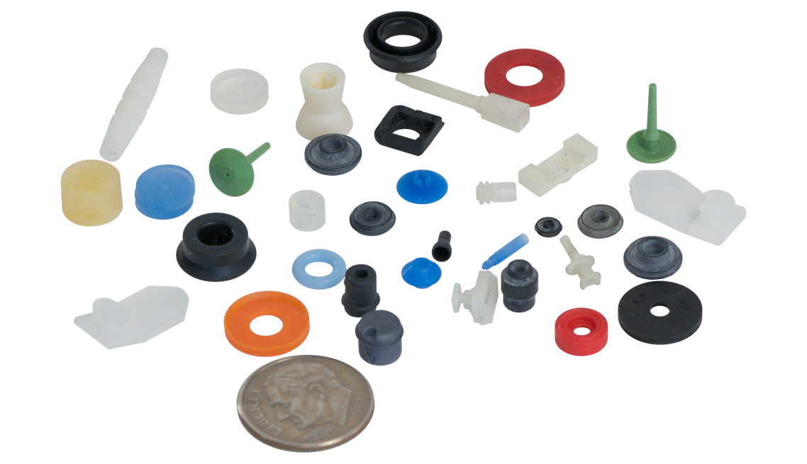 Mirco Parts, Valves, O-Rings, Packings, Rubber Check Valves, Pinch Valves, Press in Place Seal, Umbrella Relief Valve, Grommets, Isolators, Bushings, Flow Control Critical Seals, FKM, Viton, Nitrile, HNBR, EPDM, Fluorosilicone